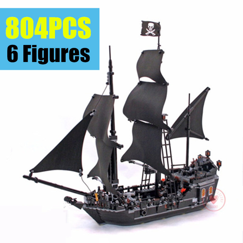 NEW The Black Pearl Pirates of Caribbean fit Pirates ship boat figures Building Block bricks gift