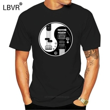 T-Shirt Guitar Acoustic Fashion Casual Strings Bass-Amp Cool Funny Yin Yang Electric