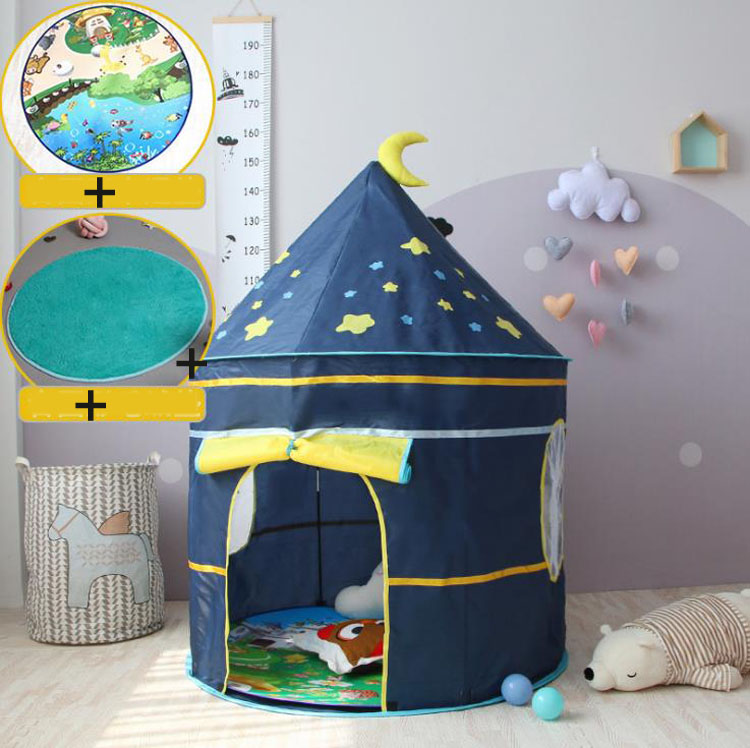 Princess Prince Play Tent Portable Foldable Tent Children Boy Castle Play House Kids Outdoor Toy Tent for Children's  Gifts