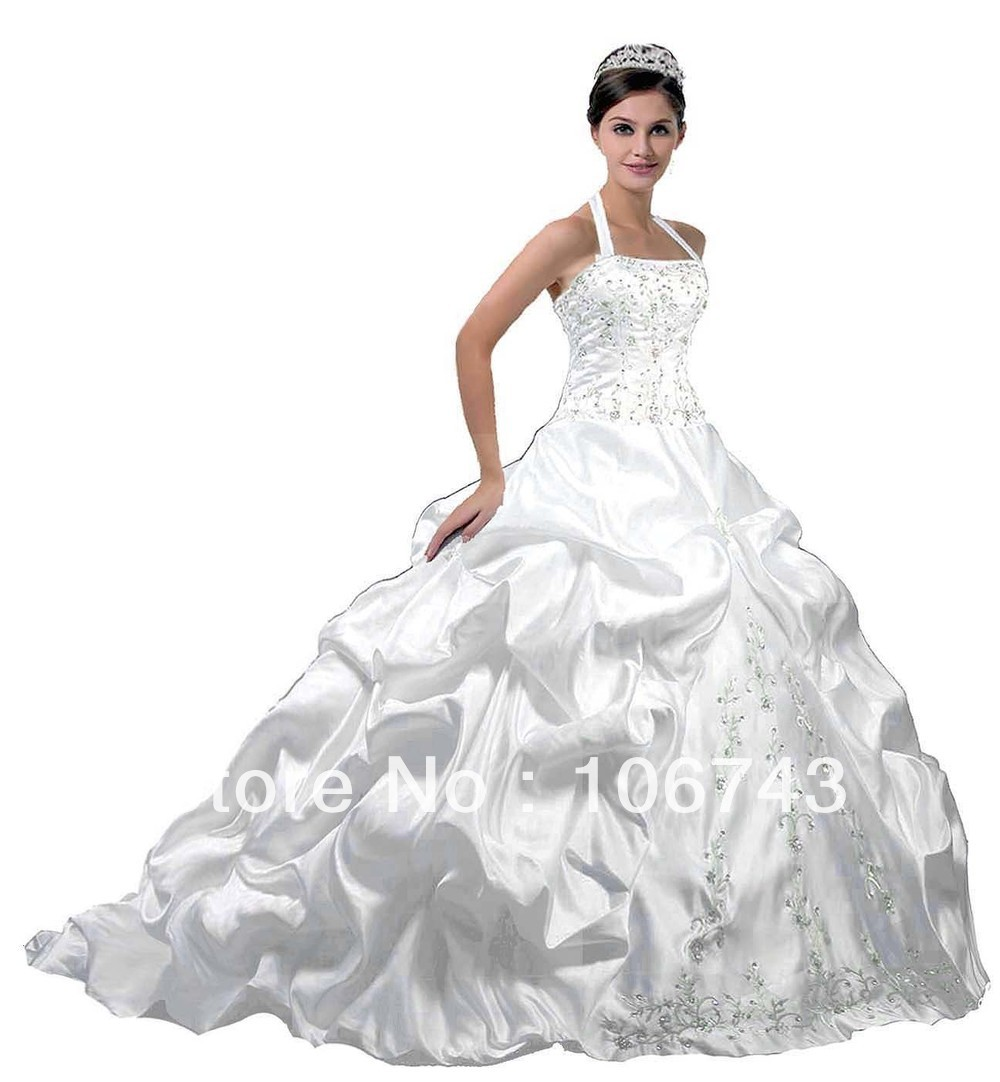 2016 Real Promotion Wrap Halter Wedding Dresses Gowns Dresses Free Shipping Faironly Hot-sale Bride Wedding Dress In Custom Size