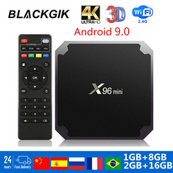 X96 mini Smart TV box Amlogic S905W четырехъядерный X96mini Android 9,0 TV Box 2 Гб 16 Гб 2,4G WiFi 3D 4k медиаплеер Google Set Top box