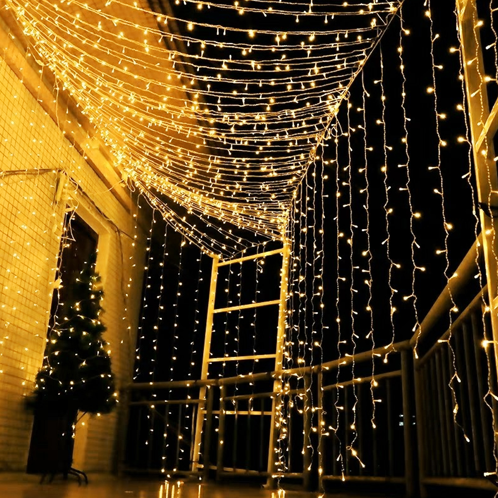 110v 220v outdoor lighting curtain garland led wall lamps wedding party garden string home decoration fairy light