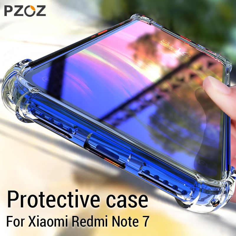 PZOZ לשיאו mi אדום mi הערה 7 8 8T 7A K20 mi הערה 10 CC9 פרו A3 מגן מקרה עמיד הלם סיליקון TPU רך שקוף כיסוי