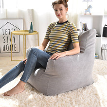 Bean Bag Chair Cover Seat Lounger Beanbag Sofa Living Room Furniture Without Fillers Lazy Chairs Bean Bag Sofa Bed Pouf Puff(China)