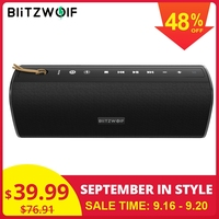 BlitzWolf BW WA2 20W Wireless bluetooth Speaker Dual Passive Diaphragm TWS NFC Bass Stereo Waterproof Outdoor Soundbar Micphone
