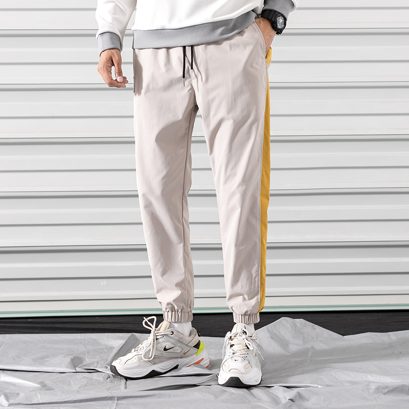Fashion Casual Mens Pants Pure Color Spring Autumn Trousers Joggers Men New Streetwear Pencil Fitness Full Pants Male Sweatpants
