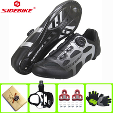 SIDEBIKE Cycling Shoes Carbon Fiber sapatilha ciclismo self-Locking Racing Bike Shoes Road Bike Athletic Riding Shoes Ciclismo