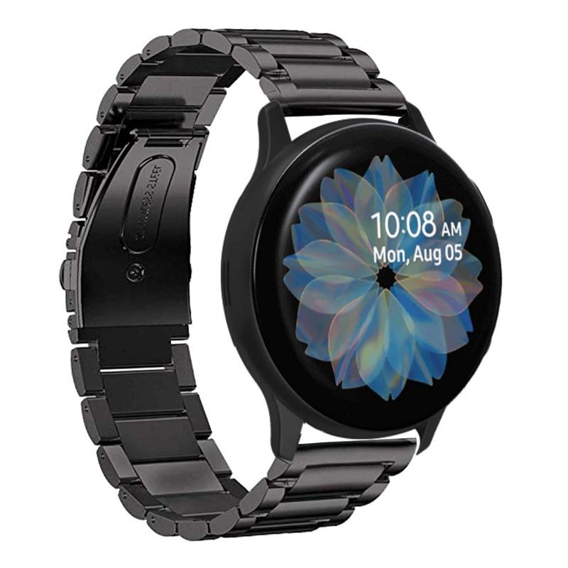 Para Galaxy Relógio Active2 40 Bandas oito milímetros Ativo 2 44 milímetros Banda 20mm Aço Inoxidável Strap para Samsung Galaxy pulseira de relógio Ativo 2
