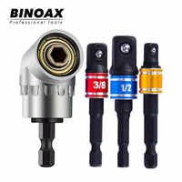 "BINOAX 3Pcs 1/4 ""3/8"" 1/2 ""Auswirkungen Grade Treiber Steckdose Adapter Verlängerung Set Mit 105 Grad Rechts winkel schraubendreher-set"