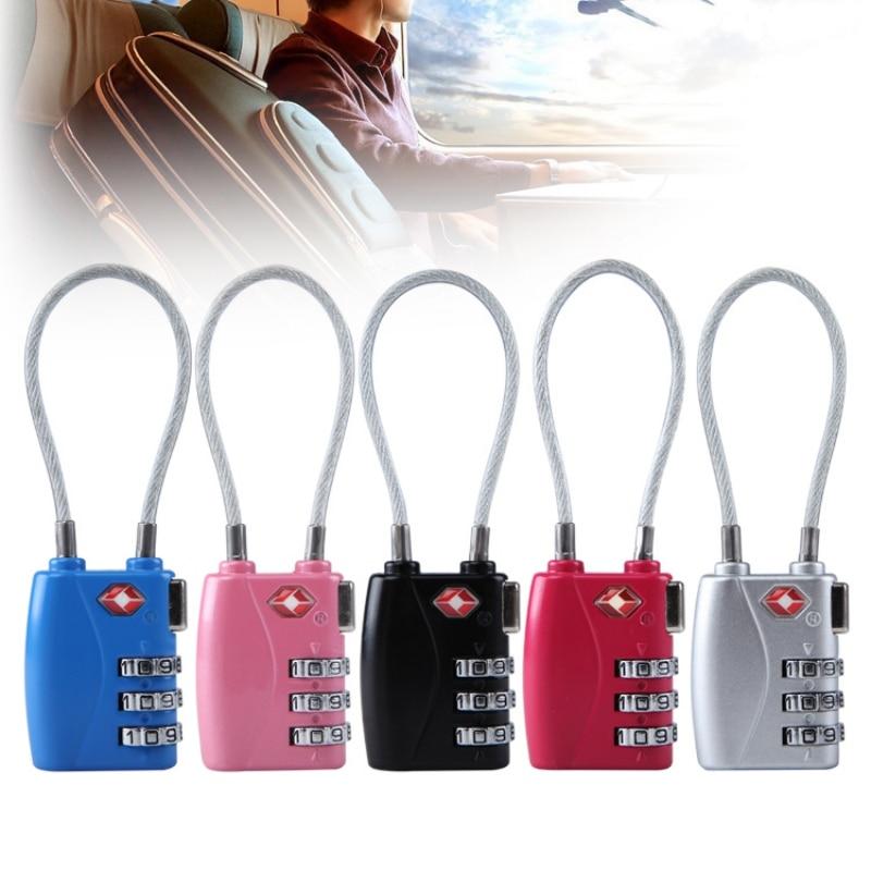 1PC 4-digit Password TSA Lock Zinc Alloy No Key Full Mechanical Rustproof Combination Customs Security Check Luggage Padlock