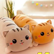 Ant cat doll Cat Plush Toys Animal Creative Cute Cat Long Soft Pillow Sleep Pillow Stuffed Gift Doll For Kids(China)