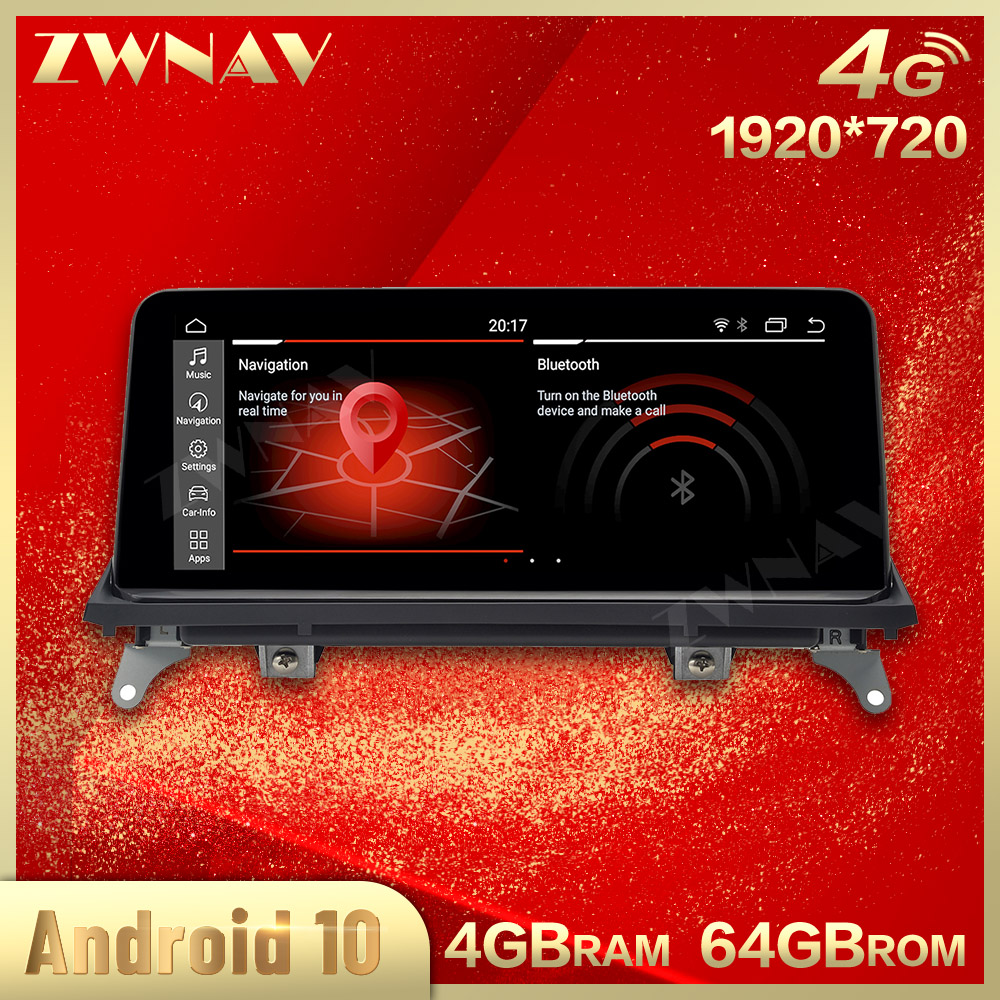 4G 1920*720 Touch screen Android 10.0 Car Multimedia Player For <font><b>BMW</b></font> X5 X6 <font><b>E70</b></font> 71 2007-2013 Gps navi Audio Radio stereo head unit image
