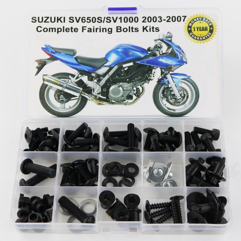 CNC Fairing Screws Bolt Kit for Suzuki SV650A 2003-2004 2005 2006 2007 2008 2009