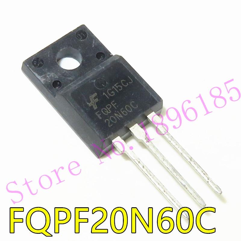 1pcs FQPF20N60 TO220 20N60 20N60C FQPF2060C FQPF20N60C 20A 600V inserção reta selo plástico TO-220F MOS FET