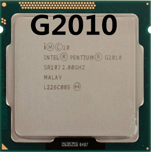 Intel Pentium Processor G2010 (3M Cache,2 .8 GHz) CPU LGA 1155 Dual-Core 100% Working Properly PC Computer Desktop CPU