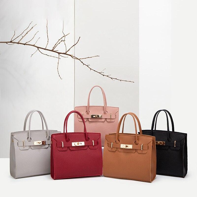Business OL Handbags Women Girls Fashion Casual Durable Solid Color Shoulder Bag Crossbody Bag Handbag