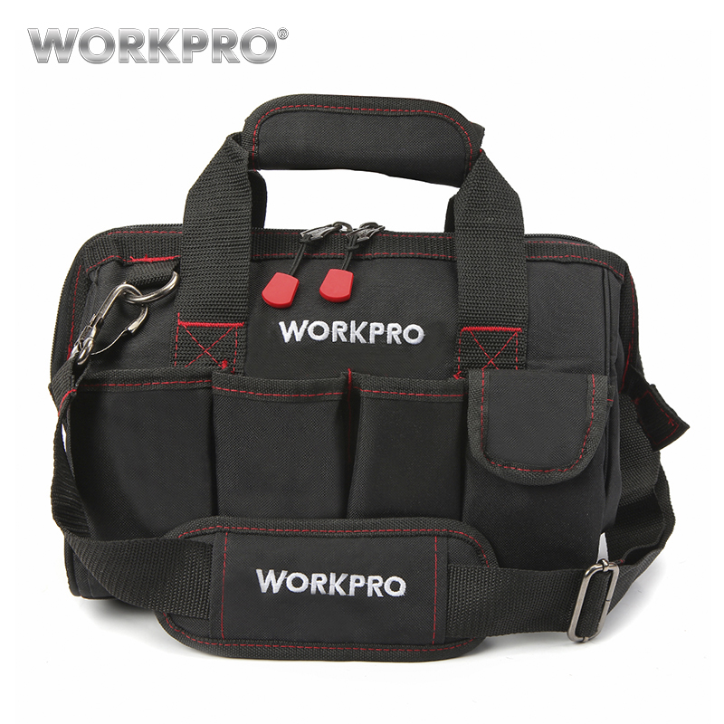 WORKPRO 12 Inch Tool Bag 600D Polyester Electrician Shoulder Bag Tool Kits Bag