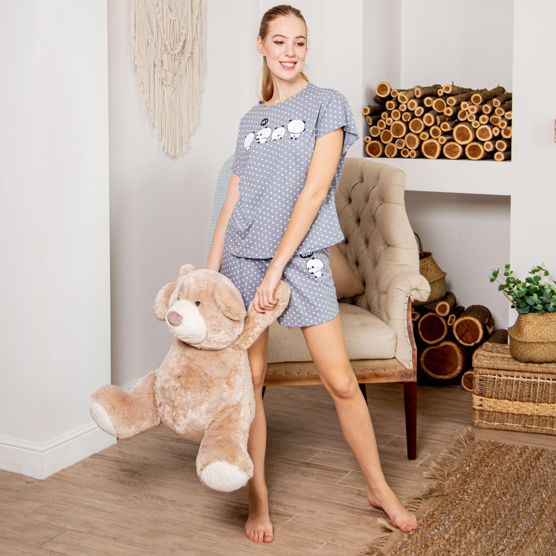 Atoff Home Pajamas ZHP 022/4 (peas On Gray)