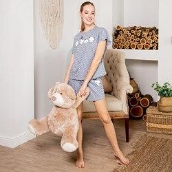 Pijamas para el hogar aoff ZHP 022/4 (guisantes en gris)