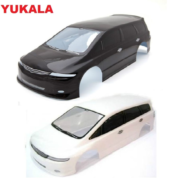 YUKALA <font><b>1/10</b></font> <font><b>RC</b></font> <font><b>car</b></font> parts 1:10 <font><b>RC</b></font> <font><b>car</b></font> <font><b>body</b></font> <font><b>shell</b></font> 195mm black /white and Peripheral accessories NO:S027B image