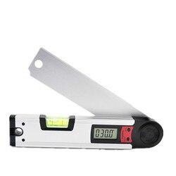 Aleación de aluminio electrónico pantalla digital ángulo protractor nivel inclinómetro