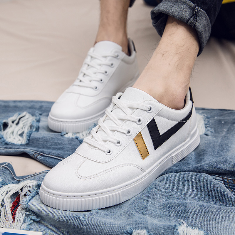 SHENGYUJIN été nouvelle tendance couleur correspondant chaussures décontractées hommes chaussures basses étudiants dentelle chaussures pour hommes 2019