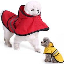 Pet Dog Raincoat  Reflective Strip pet rainwear Cute Casual dog coats Outdoor Protecting Safety Clothes D40