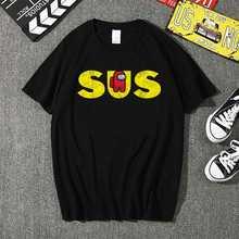 Женская футболка с надписью «the us sus» хлопковая Футболка