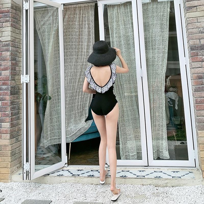 One Piece Bathing Suit Whole Swimsuit Women's One-Piece Swimwear Push Up Swimsuits Woman 2019 Summer New Backless Women Falbala thumbnail