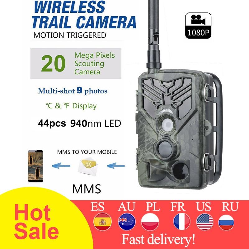 HC810M Trail Камера охотничьи камеры для съемки дикой природы 2G MMS SMTP Сотовая связь Беспроводной наблюдения 20MP 1080P Ночное видение фото ловушка