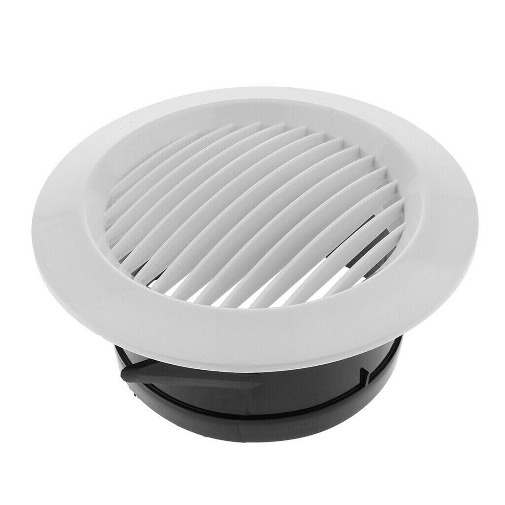 Air Vent Grille Circular Indoor Ventilation Outlet Duct Pipe Cover Cap JDH99