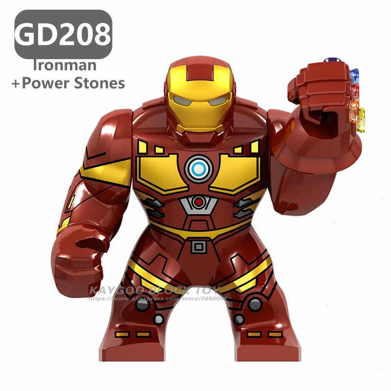 ビッグ大型スーパー hero マーベルアベンジャーズ 4 Endgame スーパー hero es 毒アイアンマンハルクバスター戦争機ブラックパンサー子供レンガのおもちゃ