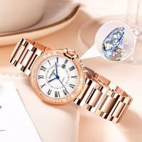 CARNIVAL Rose gold Luxury Women Watches Fashion Casual Quartz Ladies Wrist watch Steel strap Waterproof Clock Relogio Feminino