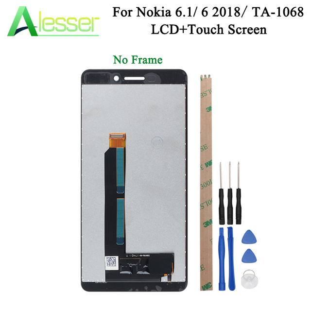 Alesser For Nokia 6.1 6 2018 TA 1043 TA 1045 TA 1050 TA 1054 TA 1068 LCD Display And Touch Screen  Assembly Replacement +Tools