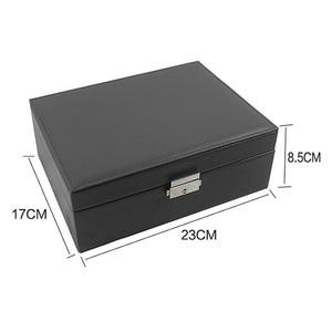 Image 2 - Grote Sieraden Capaciteit Opbergdoos Oorbellen Ketting Box Lederen Ring Sieraden Doos