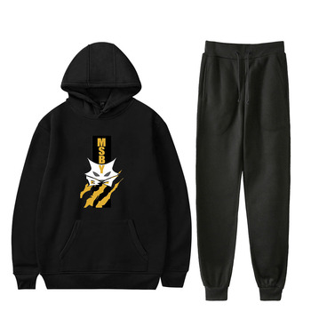 New Cool Two Piece Set Haikyuu!! Hoodie Sweatshirt Sweatpants Suit Haikyuu!! Trousers Sets Clothing Bottom Pullover Coats
