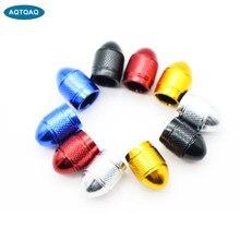 Aqtqaqq – bouchons de Valve, 20 pièces/lot, anti-Corrosion, anti-poussière de voiture, universels, en aluminium et en plastique, bouchons de pneus, couvre-tiges de Valve