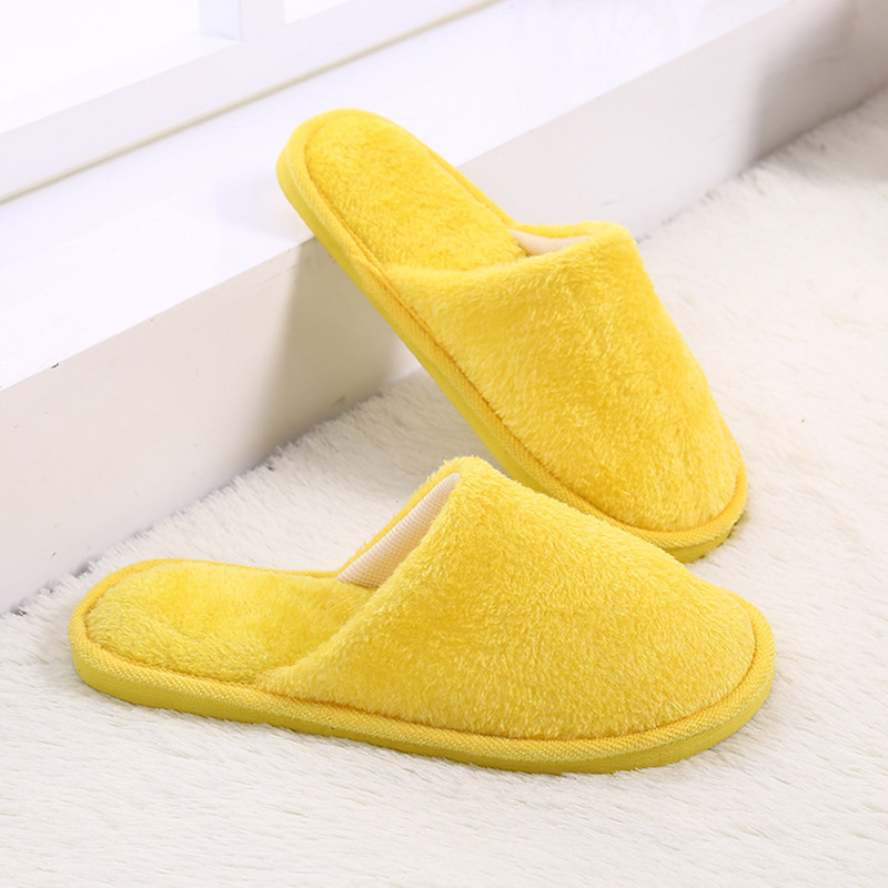 Men Slippers Flip Flop Falt Shoes Winter Warm Home Plush Soft Slippers Indoors Anti-slip Winter Floor Bedroom Shoes Flip Flops