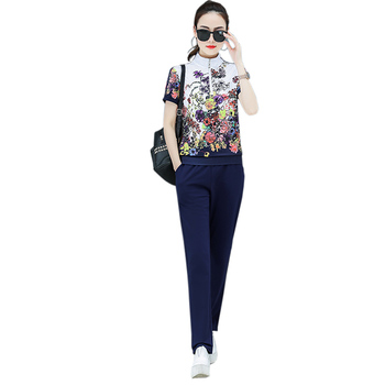 2021 Spring Zipper Cardigan Top and Trousers up and down Two-piece fashion Sweet Maiden long-sleeved Cardigan top Pants suit 1