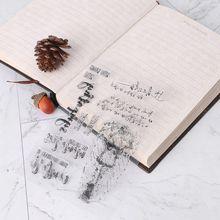 Stamp-Seal Card Scrapbook Photo-Album Font-Patterns DIY PVC D2TD Diary-Decor Rainy-Day