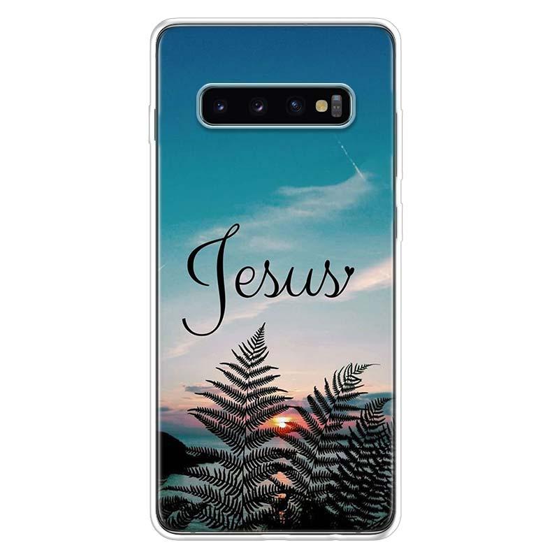 Bible Verse Jesus Christ Christian Cover Phone Case For Samsung Galaxy S20 Ultra S10 Lite Note 10 9 8 S9 S8 J4 J6 J8 Plus + S7 E