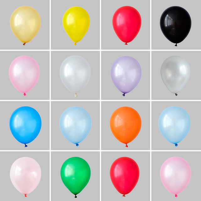 50pcs 10inch 1.5g Pearl Latex balloons Wedding decoration Celebration Helium Globos baby shower kids toys Birthday balloon