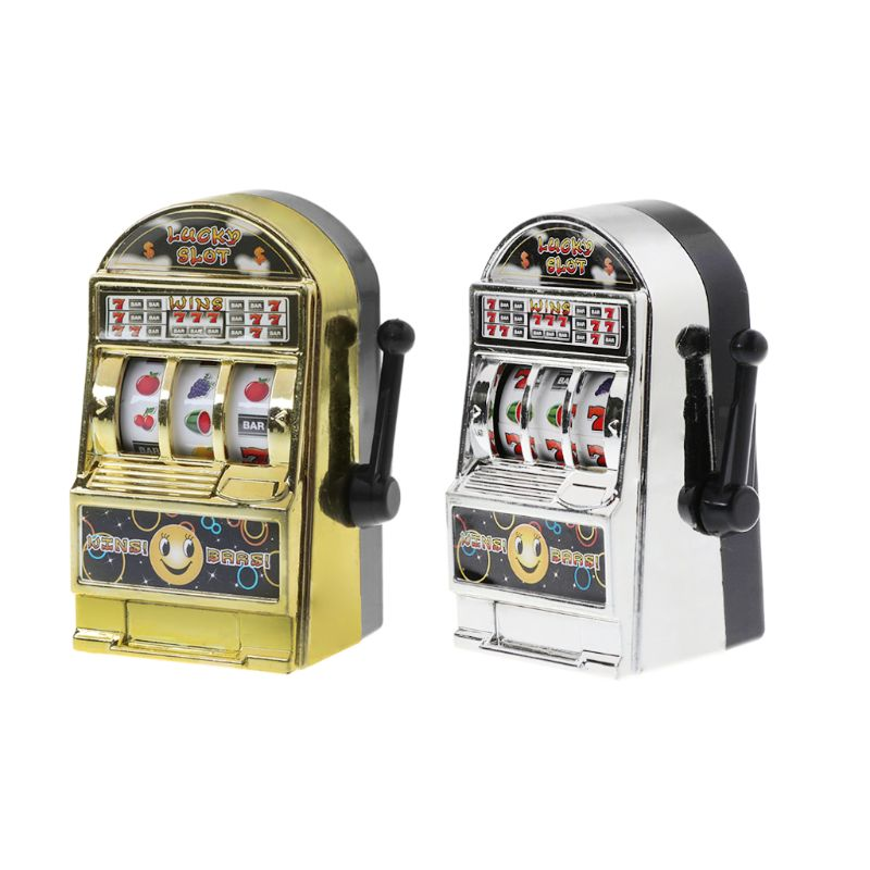 NoEnName_Null 1pc Lucky Jackpot Mini Fruit Slot Machine Fun Birthday Gift Kids Educational Toy 4.7cm X 3.9cm X 8cm