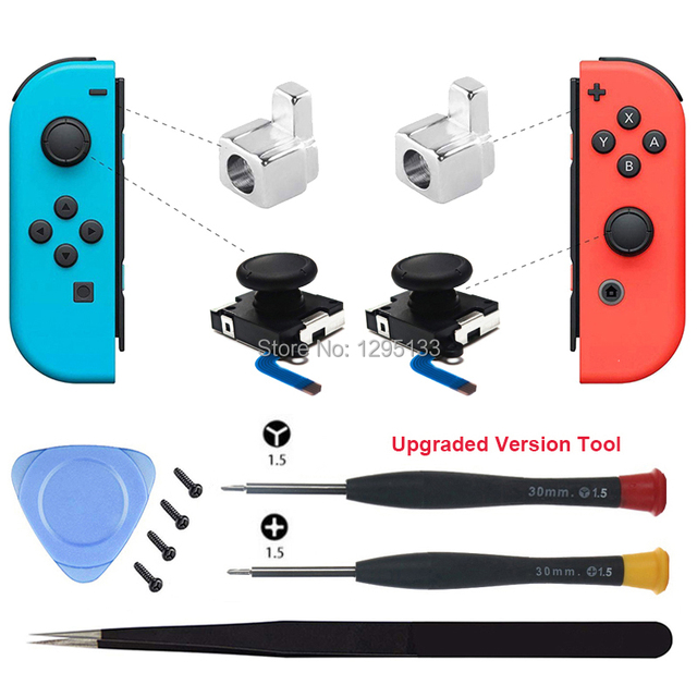 Joy Con 3D Analog Stick Sensor Module for Nintendo Switch Replacement Joycon Metal Lock Buckle Repair Parts for Nintendoswitch