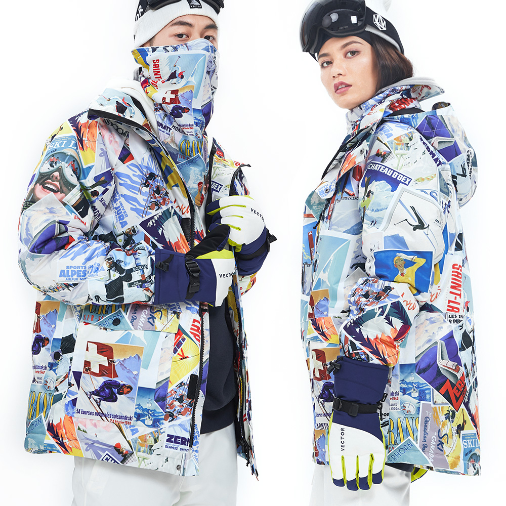Extra Large Size Thick Ski Clothes Set Snowboard Winter Sport Warm Waterproof Windproof