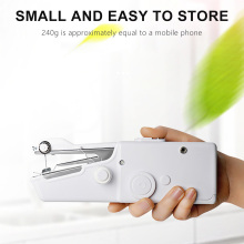portable multifunction desktop mini electric sewing machine with light cutter small household appliances eat thick needle feed Electric Fast Needle Thread Sewing Needle Sewing Machine DIY Sewing Machine Mini Handheld Household Portable Sewing Machine
