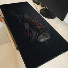 Mairuige Dark Flowers Fire Large Gaming 800*300 /900*400 Black Locking Edge Mousepad Mouse Mat Keyboard Table Pads
