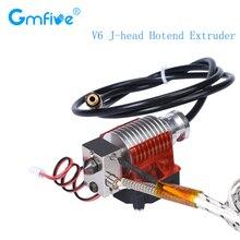 GmFive V6 J-head Hotend Extruder 3D Printer Parts Bowden Extruder Plated Copper Block Heatsink Remote Extruder +CoolingFan