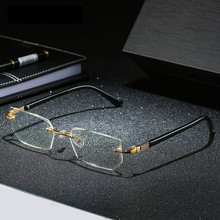 Business Rimless  Anti-blue Reading Glasses Optical Anti-fatigue High-end