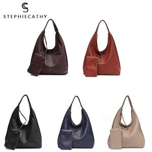 Image 5 - SC Brand Designer High Quality Cow Leather Hobo Women Genunine Leather Shoulder Bag Ladies Large Soft Casual Handbag Zip Purse
